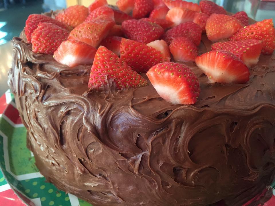 ChocolateCakeStrawberry